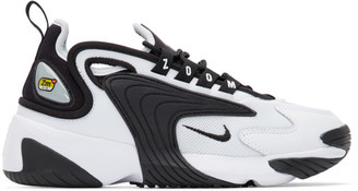 Nike White and Black Zoom 2K Sneakers