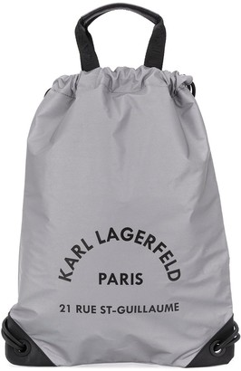 Karl Lagerfeld Paris Rue Saint Guillaume drawstring backpack