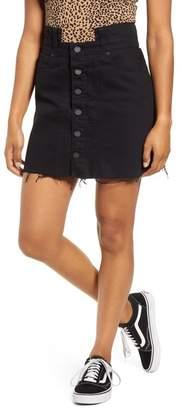 Blank NYC BLANKNYC Denim Notch Waist Denim Miniskirt