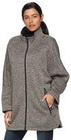 Details Women's Sweater Fleece Poncho Jacket