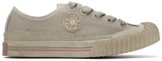 Acne Studios Grey Canvas Logo Patch Sneakers
