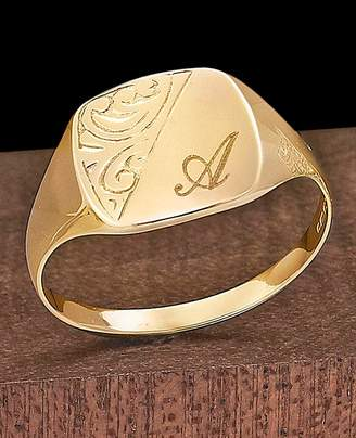 Gents Marisota 9ct Gold Personalised Signet Ring