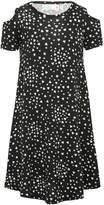 M&Co Love heart print cold shoulder swing dress