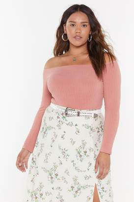 Nasty Gal Womens On and Off-the-Shoulder Plus Ribbed Bodysuit - pink - 22