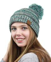 NYFASHION101® Unisex Multicolor Warm Cable Knit Slouch Pom Pom Beanie Cap