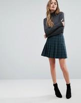 Oasis Check Pleated Mini Skirt