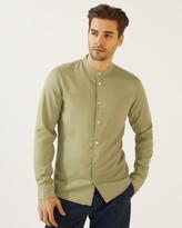 Jigsaw Tencel Grandad Collar Shirt