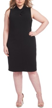 Rachel Roy Trendy Plus Size Harland Twist-Neck Sheath Dress