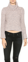 Free People Cable Crop Sweater