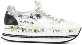 Premiata Sequinned Platform Sneakers