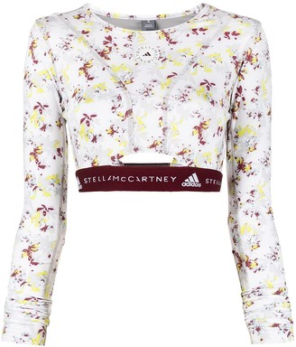 adidas by Stella McCartney Future Playground long-sleeve crop top