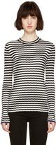 Proenza Schouler Black and White Striped Pullover