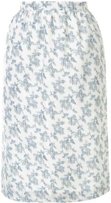 Brock Collection Floral Print Skirt
