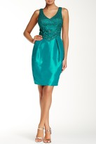 Sue Wong N4447 Embroidered V-Neck Column Dress