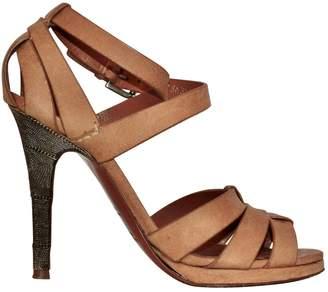 Ralph Lauren Beige Leather Sandals