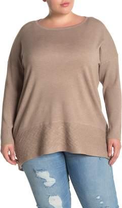 Cyrus Basketweave Dolman Sweater (Plus Size)