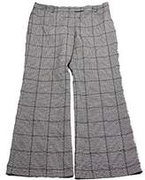 Anne Klein Women's Plaid Flare Leg Pant