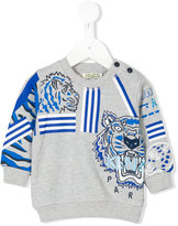 Kenzo multi-print Tiger sweatshirt - kids - Cotton - 12 mth