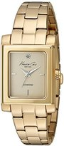 Kenneth Cole New York Women's 10022542 Genuine Diamond Analog Display Japanese Quartz Gold Watch