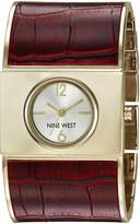 Nine West Women's Quartz Metal and Polyurethane Dress Watch, Color:Red (Model: NW/1926SVBY)