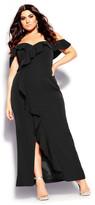 City Chic Savannah Maxi Dress - black