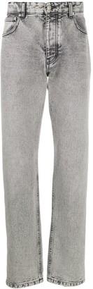 Ami Stonewashed Straight-Leg Jeans