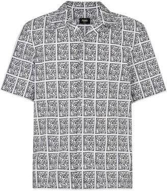 Fendi Floral-Print Short-Sleeve Shirt