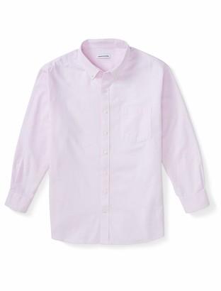 Amazon Essentials Men's Big and Tall Big & Tall Long-Sleeve Pocket Oxford Shirt