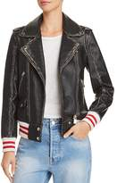 Anine Bing Quinlan Distressed Leather Moto Jacket