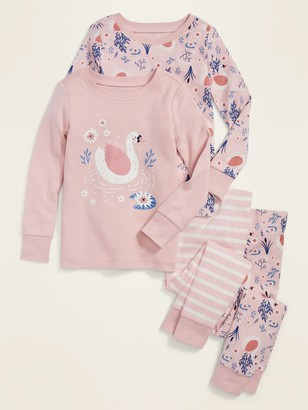 Old Navy 4-Piece Graphic Pajama Set for Toddler Girls & Baby