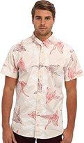 Publish Men's Eden Digi Floral S/S Woven Tan Button-up Shirt