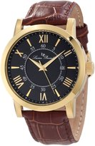 Lucien Piccard Men's 11577-YG-01 Stockhorn Gold-Tone Watch with Brown Band