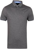 Hackett Pearl Grey Slim Fit Knit Placket Polo Shirt