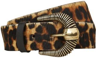 MAISON BOINET Leopard Print Waist Belt