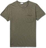 Schiesser Hanno Slub Cotton-jersey T-shirt - Dark green