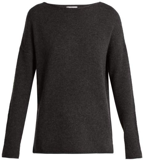 Allude Boat Neck Cashmere Sweater - Womens - Grey