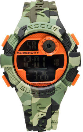 Superdry Digital, Matte Black Dial