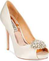Badgley Mischka Jeannie Peep-Toe Pumps