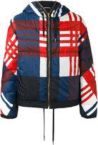 Moncler Gamme Bleu checkered down jacket - men - Cotton/Feather Down/Polyamide - 1