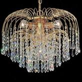 Swarovski House Of Hampton Greeson 4 - Light Unique / Statement Classic / Traditional Chandelier House of Hampton Crystal Type Elements Golden Teak