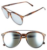 Persol Men's Sartoria 55Mm Polarized Sunglasses - Fuoco E Ardesia/ Green Mirror