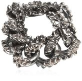 Emanuele Bicocchi Spiked Silver Chain Ring