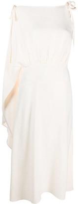 Prada Draped One-Shouldered Dress