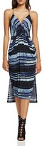 BCBGeneration Stripe Faux-Wrap Dress
