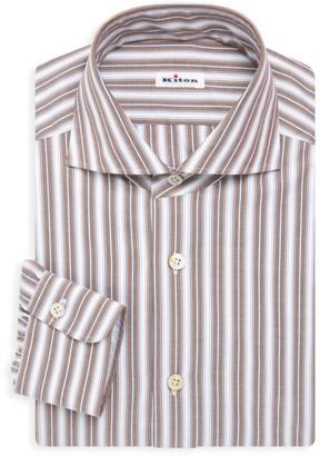 Kiton Contemporary-Fit Stripe Dress Shirt