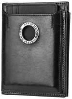 Steve Madden Men's Grommet Glazed L- Fold Wallet.