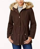 Jones New York Faux-Fur-Trim Parka