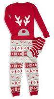 Petit Lem Unisex Holiday Reindeer Pajama Set
