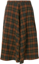 Bellerose checked A-line skirt