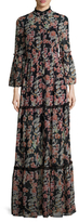 Temperley London Captain Print Bell Sleeve Maxi Dress